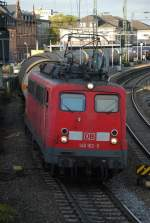 br-139-140/4962/140-162-mit-cs-47049-am 140 162 mit CS 47049 am 20.10.2008 in Offenburg.