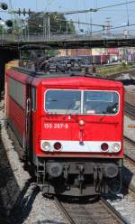 br-155/10131/155-267-mit-tec-40218-am 155 267 mit TEC 40218 am 27.09.2008 in Offenburg.