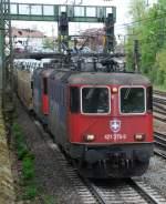 re-421/17838/421-379-mit-dgs-47039-am 421 379 mit DGS 47039 am 29.04.2008 in Offenburg.