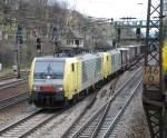 nordcargo/14917/189-993-mit-dgs-40028-am 189 993 mit DGS 40028 am 27.03.2008 in Offenburg.