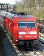 BR 101/11300/101-105-mit-ec-101-am 101 105 mit EC 101 am 17.04.2008 in Offenburg.