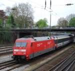 BR 101/11806/101-017-mit-ec-6-am 101 017 mit EC 6 am 28.04.2008 in Offenburg.